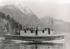Columbia in Frederick Arm near Bute Inlet
